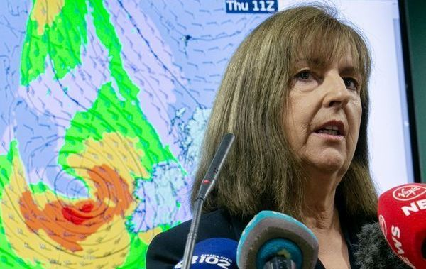 Head of Forecasting at Met Éireann Evelyn Cusack briefing the media ahead of storm Lorenzo as it progresses across the Atlantic.