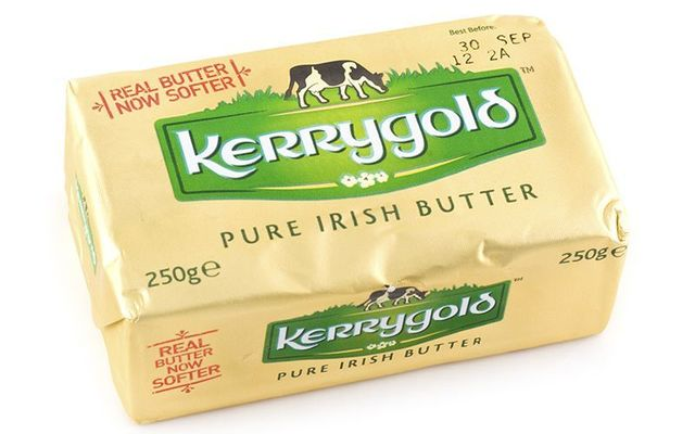 Kerrygold among European Union imports, including butter, cheese, pork, and several drink products, to be taxed 25% by USA.