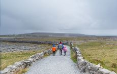 Thumb walking stone walls family aran islands getty