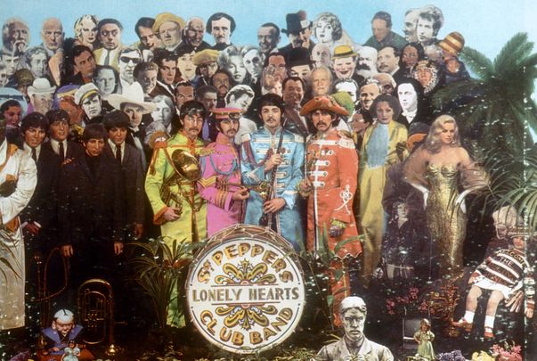 The Beatles, Sgt Pepper\'s Lonely Hearts Club Band record cover.