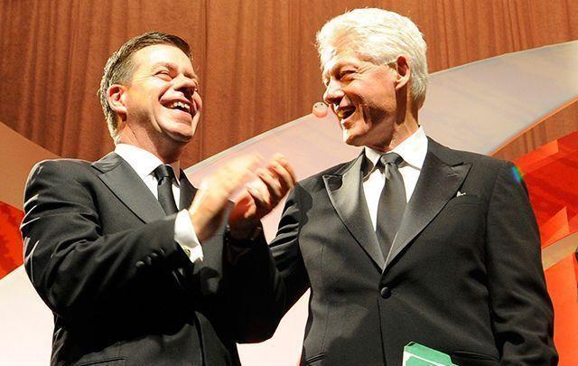 Declan Kelly and Bill Clinton.