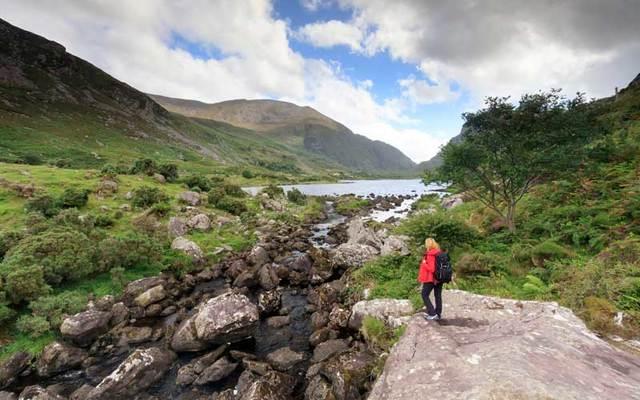 Exploring the Gap of Dunloe along the Ring of Kerry.