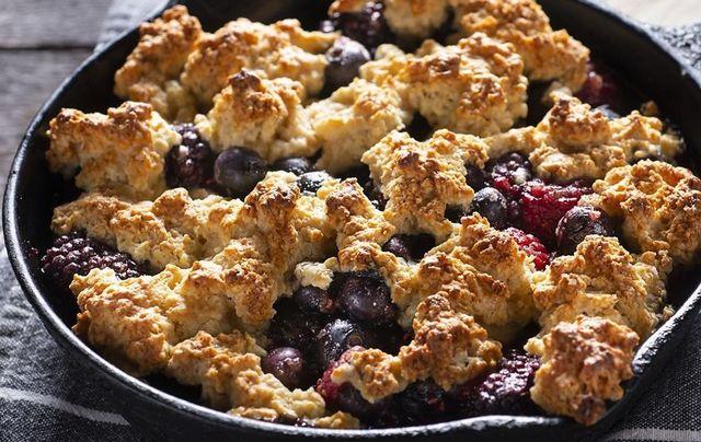 Irish blackberry cobbler.