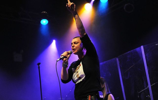 Musician Sinead O\'Connor performs at the Highline Ballroom on February 23, 2012, in New York City.
