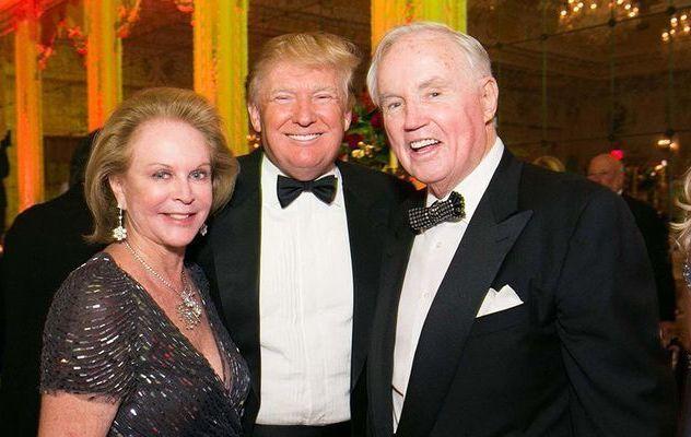 Eileen Burns, Donald Trump, Brian Burns.