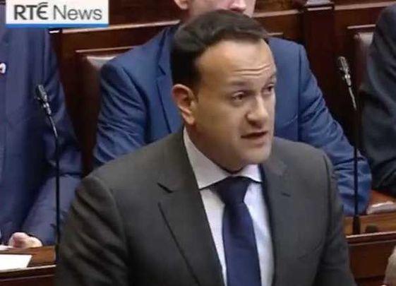Taoiseach Leo Varadkar apologizing in the Dail.