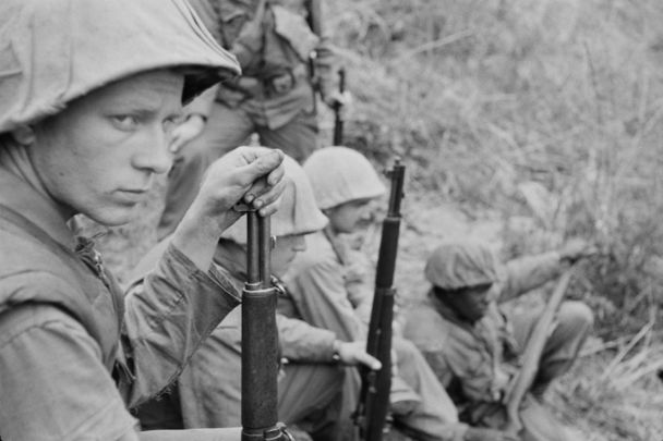US soldiers during the Korean War.