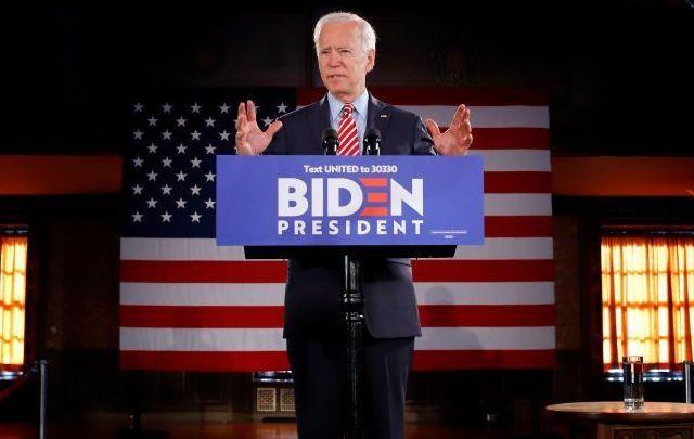 Former vice president and Democrat presidential hopeful Joe Biden.