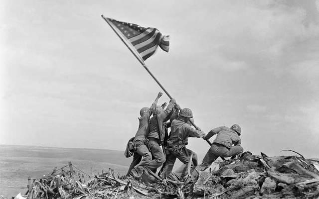 "\""Raising the Flag on Iwo Jima.\"""