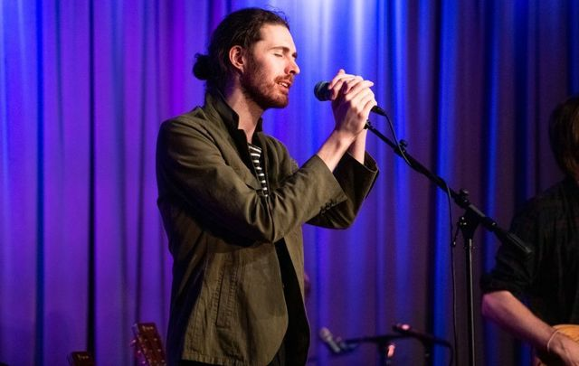 Hozier performs at The GRAMMY Museum on October 23, 2019, in Los Angeles, California.