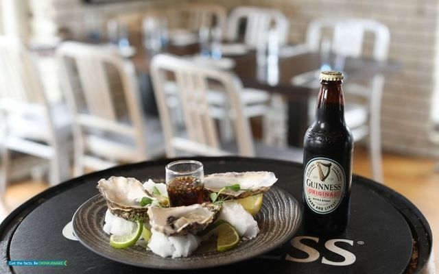 Celebrating seafood and Guinness at the International Stout Festival during Guinness Storehouse Seafest.