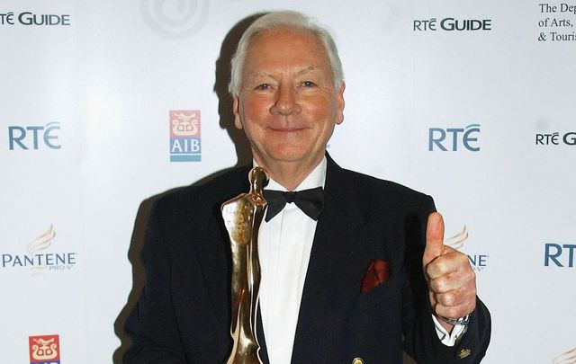 Beloved Irish broadcaster Gay Byrne, at the Irish Film and Television Awards.