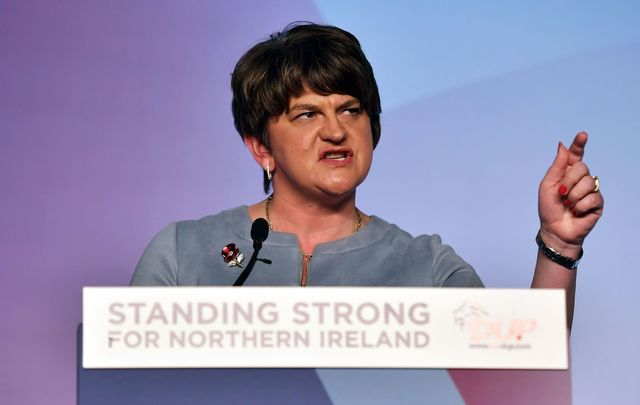 Democratic Unionist Party leader Arlene Foster.