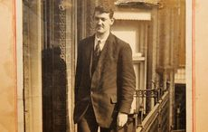 Where did Michael Collins hide his gun while riding on Dublin's trams?
