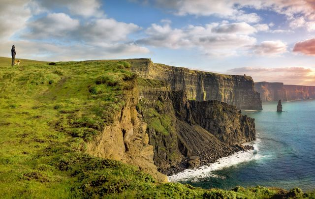 The beautiful Cliffs of Moher, in County Clare.