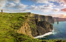 Is this Cliffs of Moher waterfall going up instead of down?