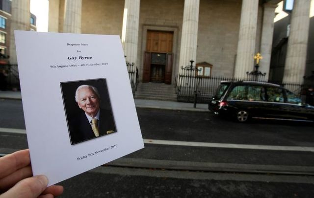 Gay Byrne\'s funeral was held in Dublin on Friday, November 8.