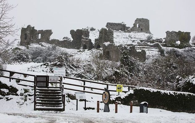 The Rock of Dunamas, in County Laois, during a previous winter flurry.