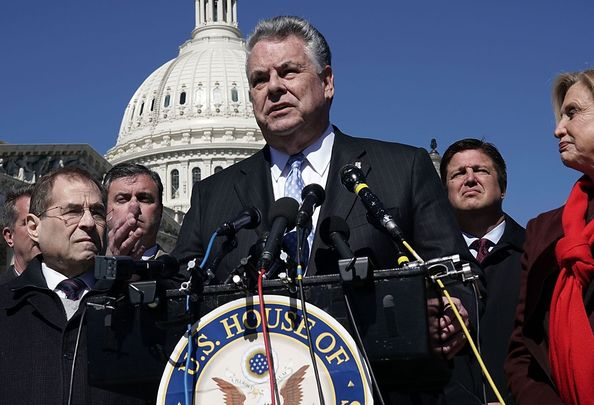 GOP Rep. Peter King, speaking from Capital Hill, in Washington DC.