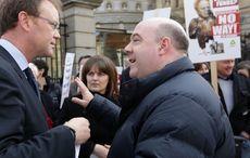 Thumb irish mortgage holders david hall protest leinster house may 2014 rollingnews
