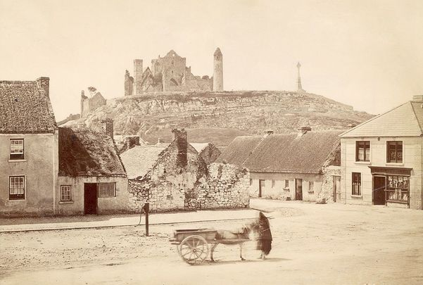 The Rock of Cashel, in County Tipperary, photographed in 1885.