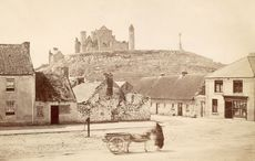 Thumb the rock of cashel  in county tipperary  photographed in 1885 getty