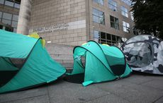 Thumb inner city helping homeless   protest. pictured several tents lined up in front of dublin city coucil offices in dublin rollingnews
