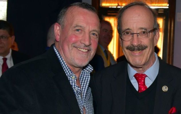 Malachy McAllister and Congressman Eliot Engel, at an AOH Division 5 event in Woodlawn, in 2018.