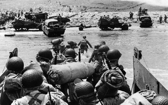 The Allied Forces landing on the beaches of Normandy, on D-Day on June 6, in 1944.