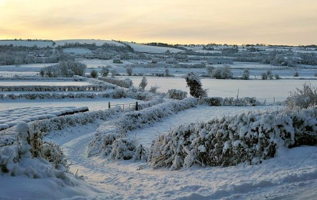 A snowy Christmas Day in Letterkenny, Co Donegal in 2010.