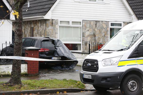 The crime scene in Coolock, Dublin, where Eoin Boylan was shot.