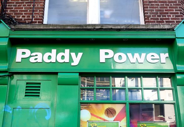 Paddy Powers bookmakers: The ads joked of 800 years of English rule in Ireland.