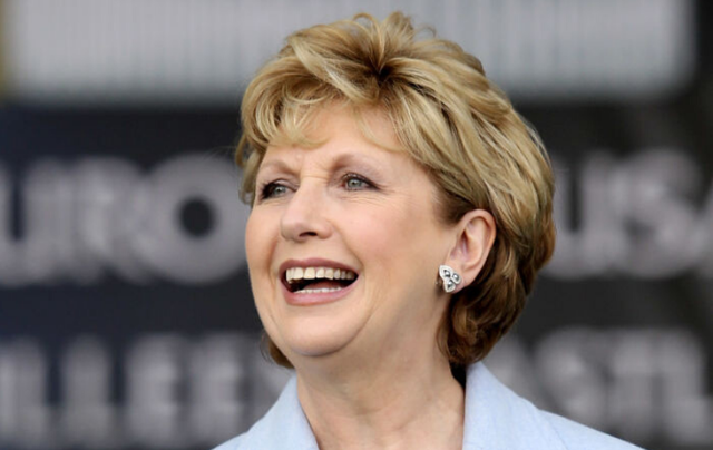 Irish President Mary McAleese looks on during the opening ceremony prior to the 2011 Solheim Cup at Killeen Castle Golf Club on September 22, 2011, in Dunshaughlin, County Meath, Ireland.