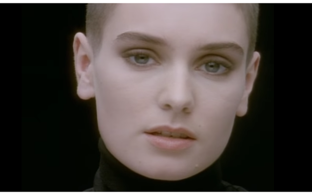 Sinead O\'Connor: Still from her famous Nothing Compares to You music video.