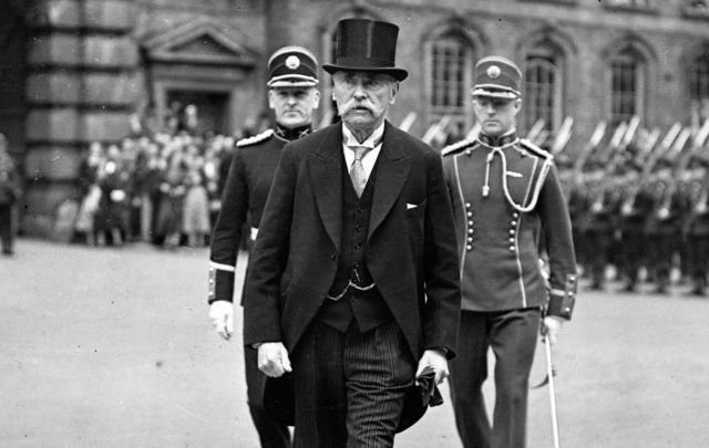 Dr Douglas Hyde after being sworn in as the nation\'s first President of Eire on June  25,1938