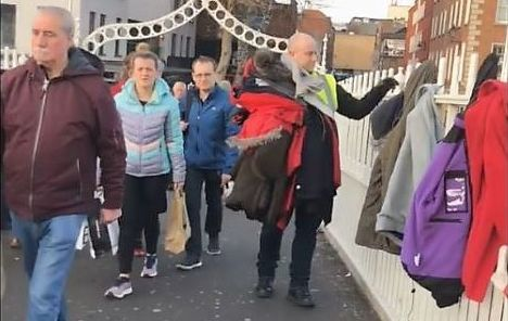 Dublin City Council is urging people not to hang coats on the Ha\'penny Bridge to donate to the homeless.