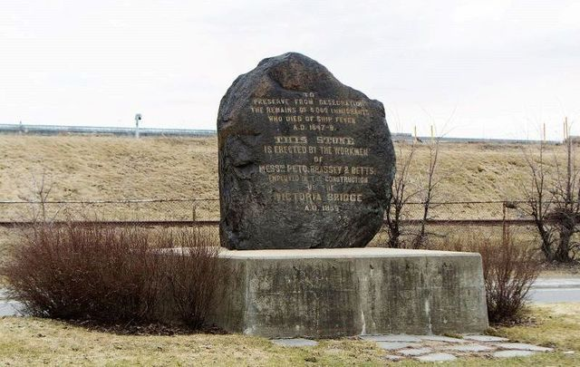 The Black Rock memorial in Griffintown memorializes some 6,000 Irish immigrants who died in Montreal after fleeing the Irish Famine.