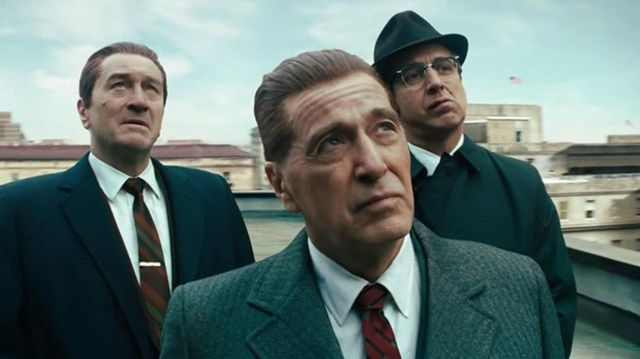 Robert DeNiro, Al Pacino, and Ray Ramano in The Irishman.