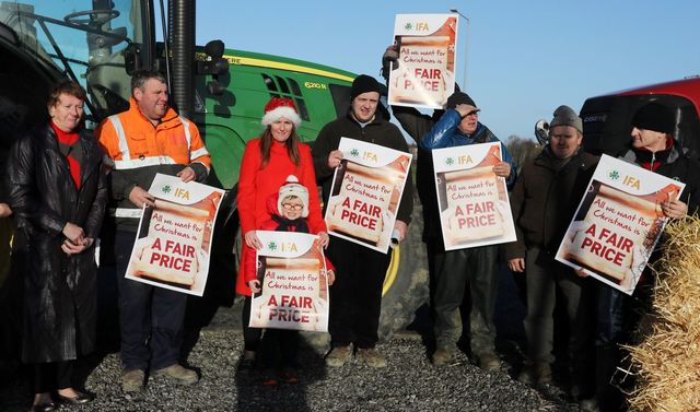 Farmers Protests over beef prices.