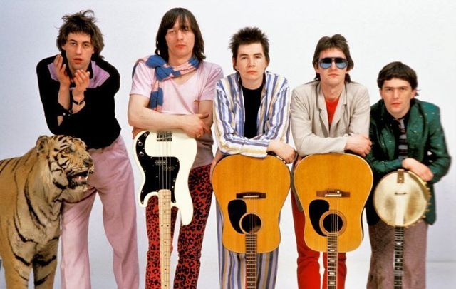 Bob Geldof, Garry Roberts, Johnnie Fingers, Gerry Cott and Pete Briquette of The Boomtown Rats.