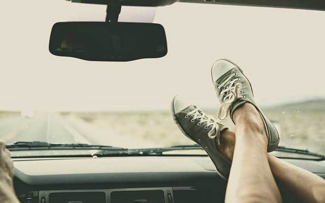 An Irish woman who suffered horrific facial injuries in a car crash is warning people of the dangers of putting your feet on the dashboard.