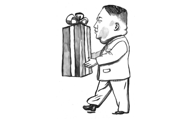 Kim Jong-un: That plump little man in North Korea is threatening to send a special Christmas Box to ye.