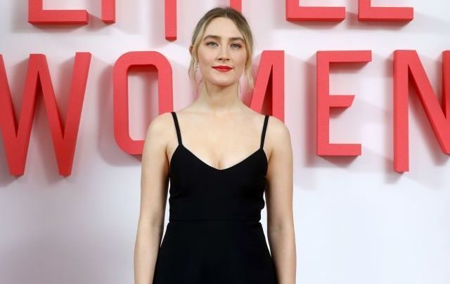 Saoirse Ronan attends the Little Women London evening photocall at the Soho Hotel on December 16, 2019, in London, England.