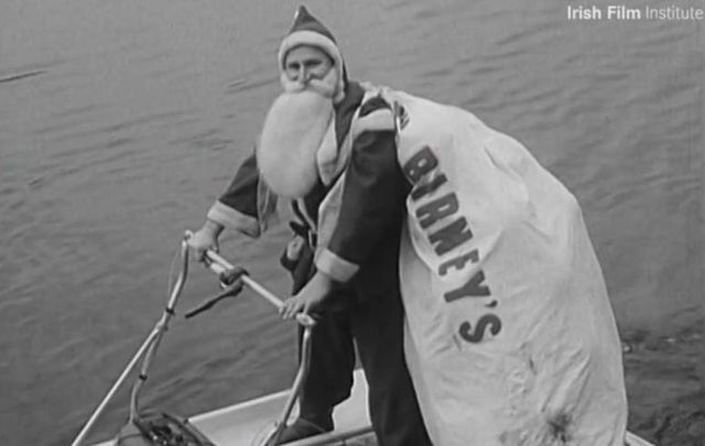 Rudolph must have been resting! In this video from the Irish Film Institute, Santa Claus water-skis into Dublin City for Christmas.