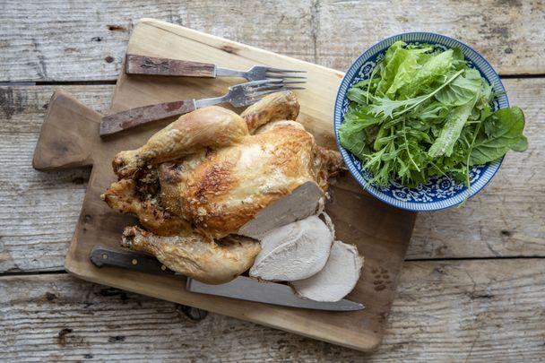 Irish roast stuffed chicken for the whole family.