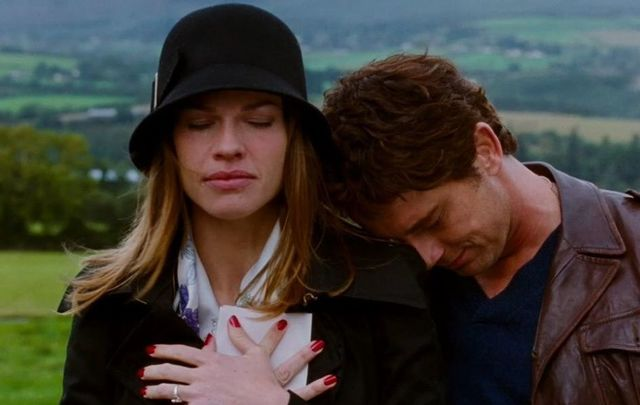 "Hilary Swank and Gerard Butler in ""P.S. I Love You.\"""