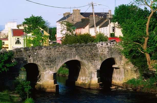 The town of Oughterard, in Galway.