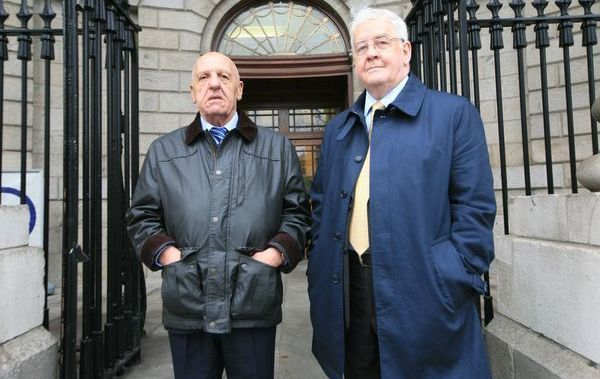Kevin Hannaway and Francis McGuigan, two of the hooded men.