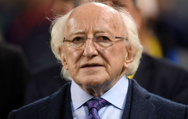 Michael D. Higgins, President of the Republic of Ireland looks on ahead of the UEFA Nations League B group four match between Ireland and Denmark at Aviva Stadium on October 13, 2018, in Dublin, Ireland.