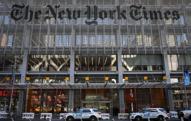 The New York Times newspaper offices.